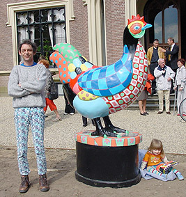 chicken barneveld sculpture beeld polyester art exhibition