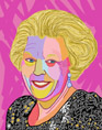 Portrait of Queen Beatrix, digitally created on the ipad