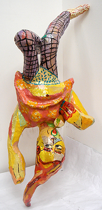Polyester sculpture Daughter with ice cream by Twan de Vos