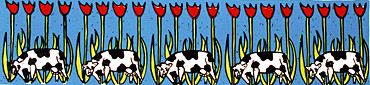 cow tulip holland silkscreen print