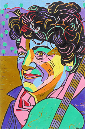 portrait by order, portraits painting, portrait in linocut or portraits in silkscreen print