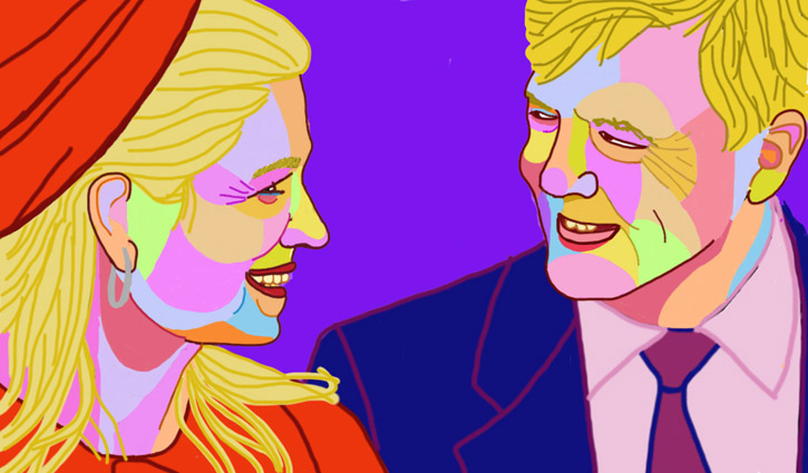 Portrait of our king and queen Willem alexander and Maxima