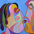 Painting Big kiss 2 of Twan de Vos, given with love